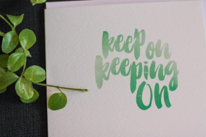 Shop - Card - Keep On Keeping On
